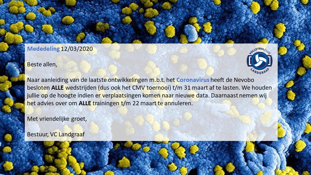 VC Landgraaf_mededeling Coronavirus_12032020